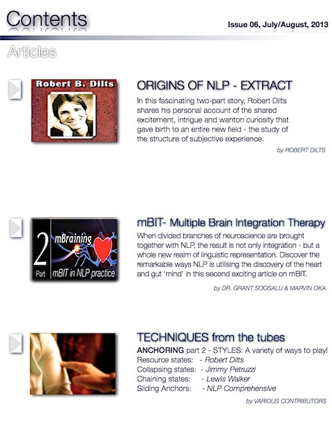 NLP Magazine Issue 06 Contents2