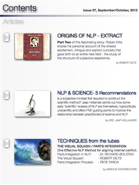 NLP Magazine Issue 07 Contents2