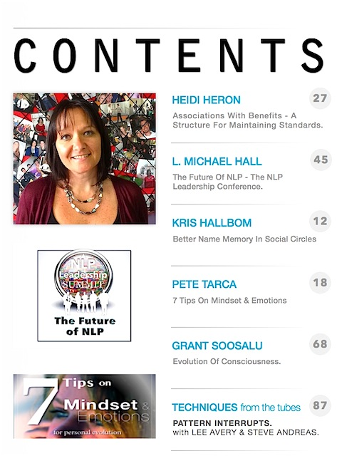NLP Magazine Issue 10 Contents