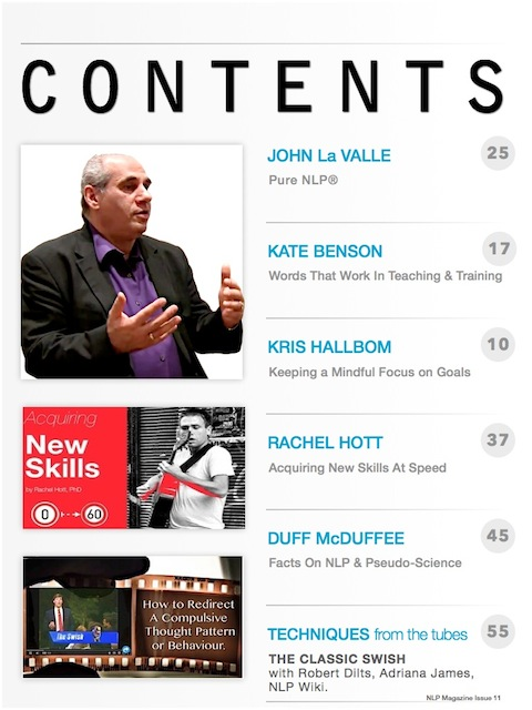 NLP Magazine Issue 11 Contents